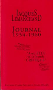 Journal de Jacques Lemarchand (1954-1960)